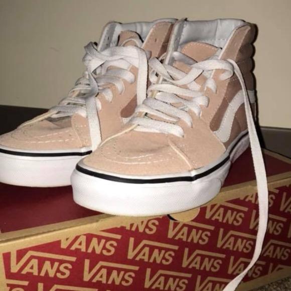 Vans Shoes - Sk8-HI Mahogany Rose/True White Vans